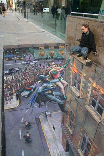 Batman - Chalk Drawing